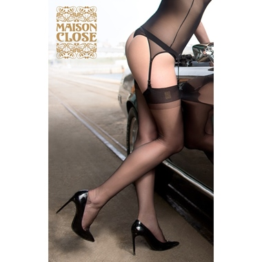 Maison Close Authentique Nylon Strümpfe Schwarz