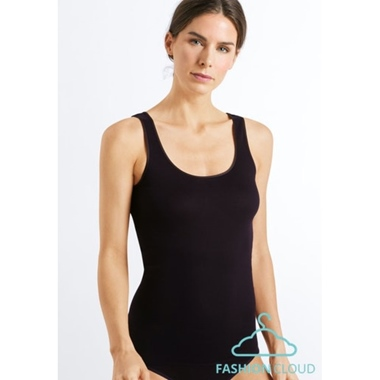 Hanro Cotton Seamless Tank Top Black *