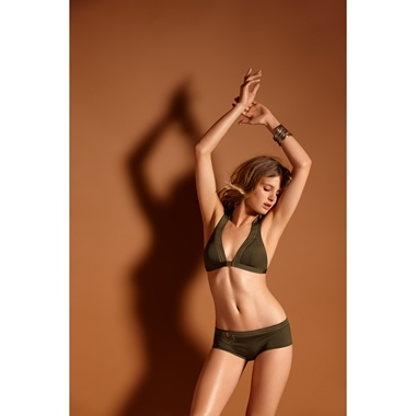 Huit8 Full In Love Bikini Set Basil