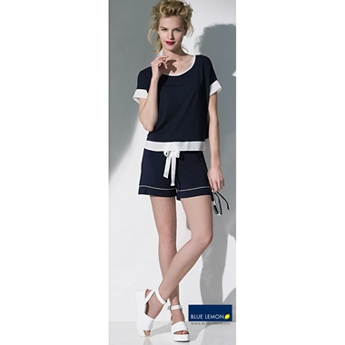 Blue Lemon Alessia Minishort Navy