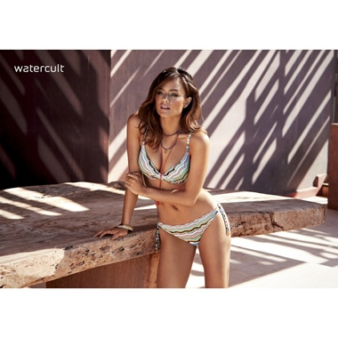Watercult Nomadic Beach Bikini Set Ecru-Amber