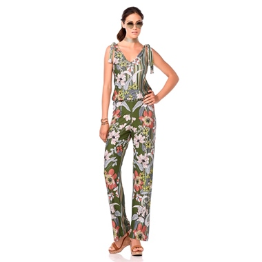 Vamp Jumpsuit Blue Green Safari