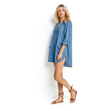 Seafolly Australia Boyfriend Shirtkleid Bademode Chambray