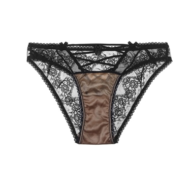 Mimi Holliday Orchid Corset Knicker Peach/Black