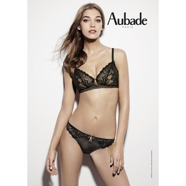 Aubade Paris Art of Kissing Triangel BH Jet Black