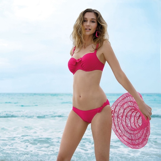 Antigel Plage Bikini Set Rose Plage