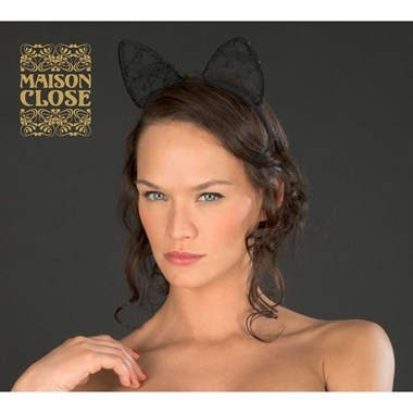 Maison Close Haarreif Katze Black